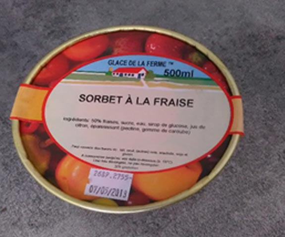 Sorbet en pot Terroir d'Azergues